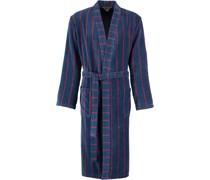 Bademantel Kimono Streifen 1838 blau-rot - 12