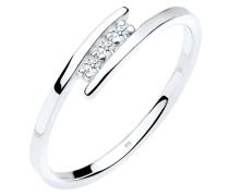 Ring Klassiker Trio Diamant 0.04 ct. 925 Silber