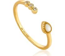 -Damenring Dream Adjusable Ring 925er Silber Zirkonia Gold 32014174