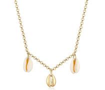 Halskette Kauri Muschel Anhänger Maritim Sommer 925 Silber