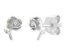 Ohrstecker für, Sterling Silber 925, Rose
