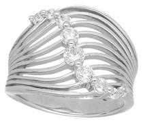 Ring geschwungen mit Zirkonia