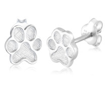 Ohrringe Pfoten Tier Abdruck Hund Katze Filigran 925 Silber