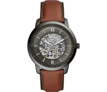 -Uhren Analog Quarz Braun/Blau Braun/Blau Leder 32002259