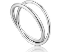 -Damenring Modern Double Wrap Ring 925er Silber 54 32014207