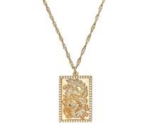 Kette mit Anhänger für, Sterling Silber 925 vergoldet, Drachen