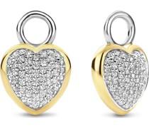 -Creolen 925er Silber Zirkonia One Size 88267133