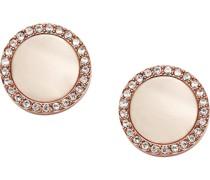 -Ohrstecker Edelstahl/Kunststoff Rosé Glasstein One Size 32001608