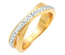 Ring Wickelring Zart Swarovski® Kristalle 925 Silber
