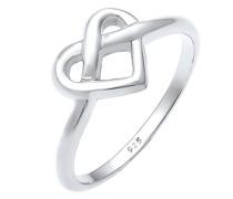 Ring Wiesn Brezel Herz Knoten Trend 925 Sterling Silber