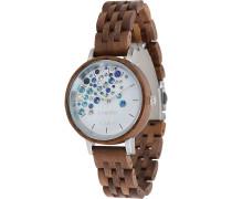 -Uhren Analog Quarz One Size Holz 88139224