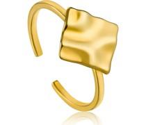 -Damenring Crush Square Adjustable Ring 925er Silber Gold 32014158