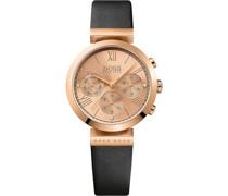 Boss-Uhren Analog Quarz Beige/Gold Beige/Gold Leder 32002368