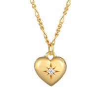 Halskette Herz Swarovski® Kristalle 925 Sterling Silber