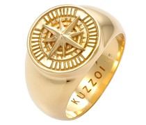 Ring Siegelring Kompass Maritim 925 Silber