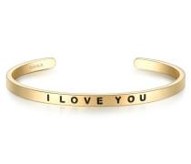 Armband I LOVE YOU Edelstahl gelbgold