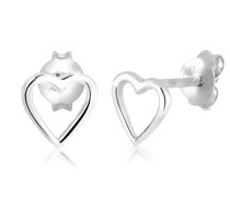 Ohrringe Herz Basic Liebe Filigran Hochwertig 925 Silber