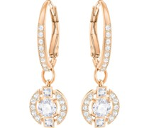 -Ohrhänger Metall Kristalle Rosé 32000943