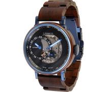 -Uhren Analog Automatik One Size Holz 88139577