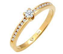 Ring Verlobungsring Diamant (0.18 ct.) 585 Gelbgold