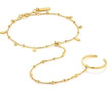 -Armband Bohemia Hand Chain Bracelet 925er Silber Gold 32014160