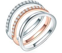 Ring Sterling Silber Zirkonia silber/roségold