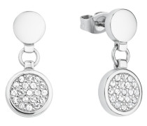 Ohrring für aus Edelstahl besetzt mit Kristallen von Swarovski® Weiß