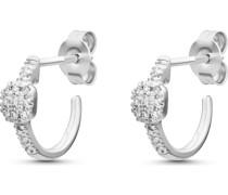 -Ohrstecker 375er Weißgold 22 Diamant One Size 87729419
