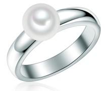 Ring Sterling Silber Süßwasser-Zuchtperle silber