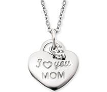 -Kette Kette Love Mom mit Zirkonia 925er Silber One Size 87927822