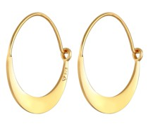 Ohrringe Creolen Ohrhänger Geo Look Basic 925 Silber