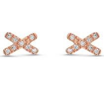 -Ohrstecker 375er Rosegold 16 Diamant One Size 87735371