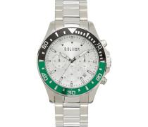 -Uhren Analog Quarz Silber/Grün 32015201