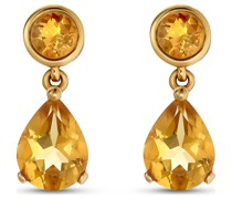 -Ohrhänger 375er Gelbgold 2 Citrin One Size 32013492
