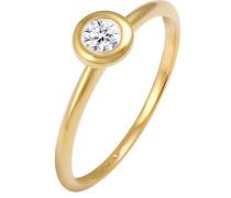 Ring Swarovski® Created Diamond (0.06 ct.) 585 Gelbgold