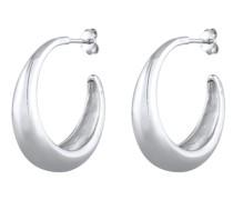 Ohrringe Creolen Hänger Chunky Hoops Basic Cool 925 Silber