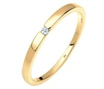 Ring Verlobungsring Klassiker Diamant (0.015 ct.)Silber