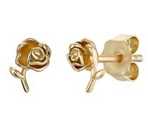 Ohrstecker für, Sterling Silber 925 vergoldet, Rose