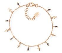 -Armband 925er Silber 10 Glasstein 32015450