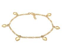 Armband Bettelarmband Figaro Herz Anhänger 925er Silber