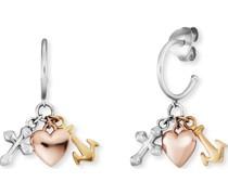 -Creolen Creole Glaube, Liebe & Hoffnun 925er Silber One Size 87928063