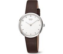 Boccia-Uhren Analog Quarz Braun 32013707