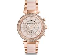 -Uhren Rund Analog Quarz One Size Edelstahl 86356015