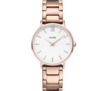 -Uhren Analog Quarz Rosé Rosé Edelstahl 32011555