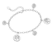 Armband mit Kugeln und Lebensbäume, Silber 925