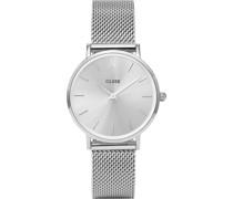 -Uhren Analog Quarz Silber 32011688