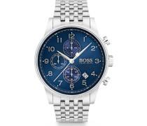 Boss-Uhren Analog Quarz One Size Edelstahl 87218902