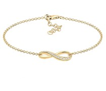 Armband Infinity Symbol Endlos Zirkonia 925 Silber