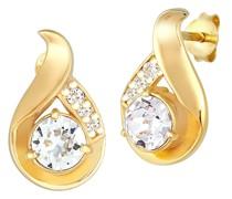 Ohrringe Tropfen Kristalle Glamour 925 Silber