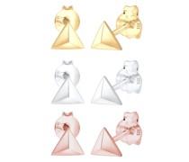 Ohrringe 3er Set Dreieck Geo Tricolor Minimal 925 Silber